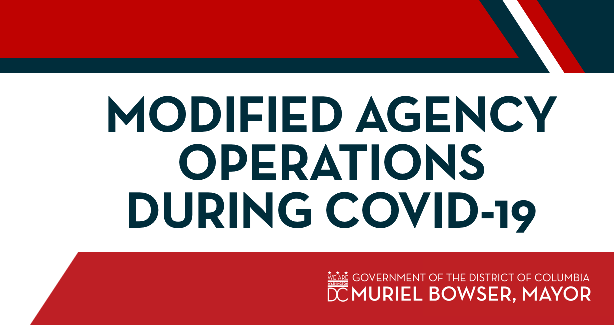 Modified Agency Operations During COVID-19